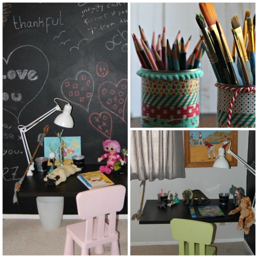 DIY kids art desk