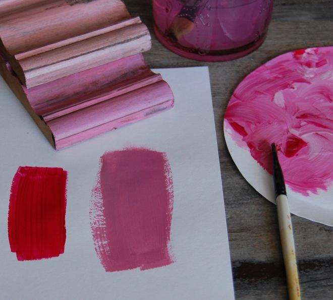 mix colors to create a tint, shade or tone
