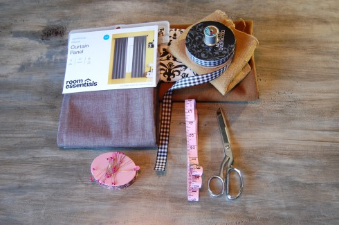 DIY sewing materials, DIY curtain, easy sew curtain, extend curtain length, handmade tassel, John Saladino look-a-like curtains