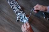 snip and rip fabric, DIY curtain, easy sew curtain, extend curtain length, handmade tassel, John Saladino look-a-like curtains