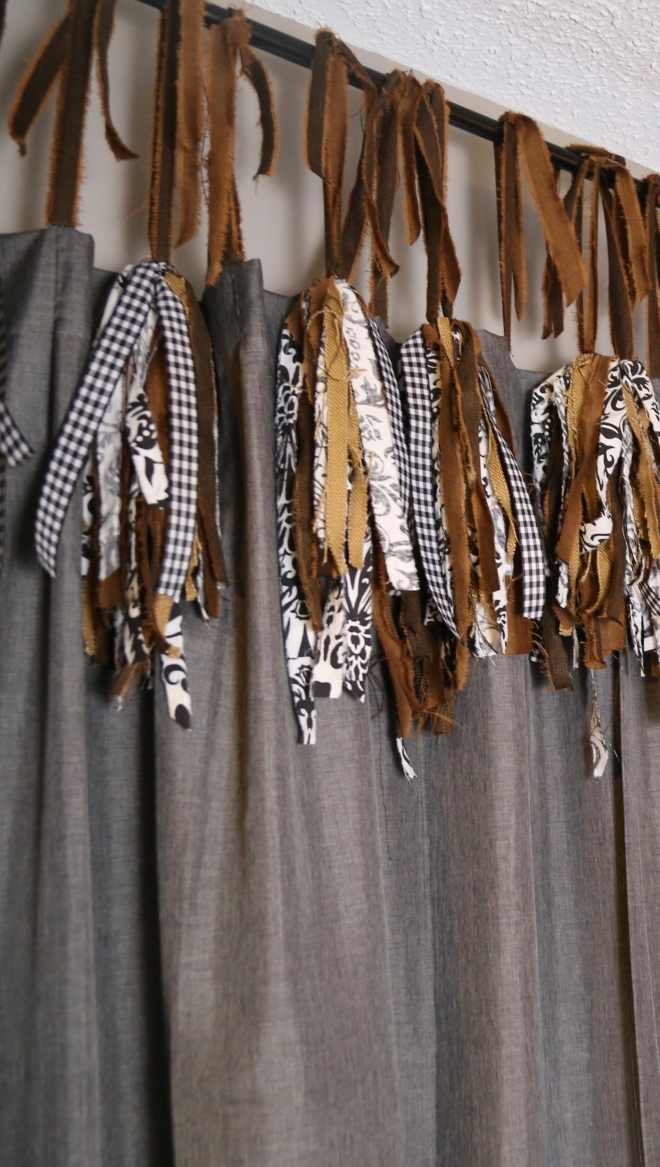 The Detalles. Adding length to curtain